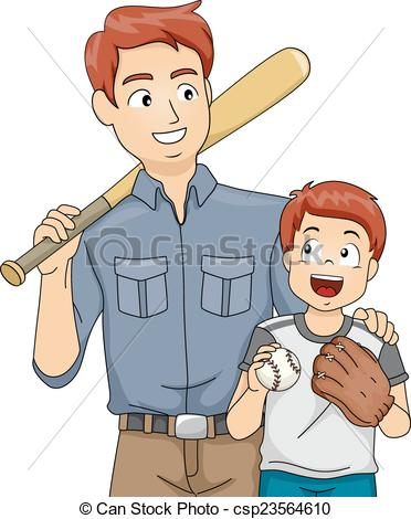 Vector Clip Art of Baseball Bonding.