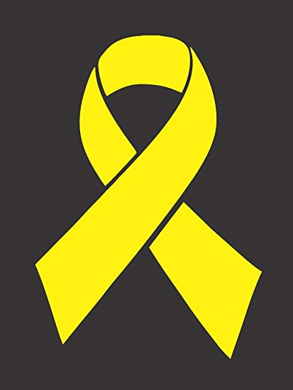 Barking Sand Designs Yellow Bone/Sarcoma Cancer Ribbon Awareness.