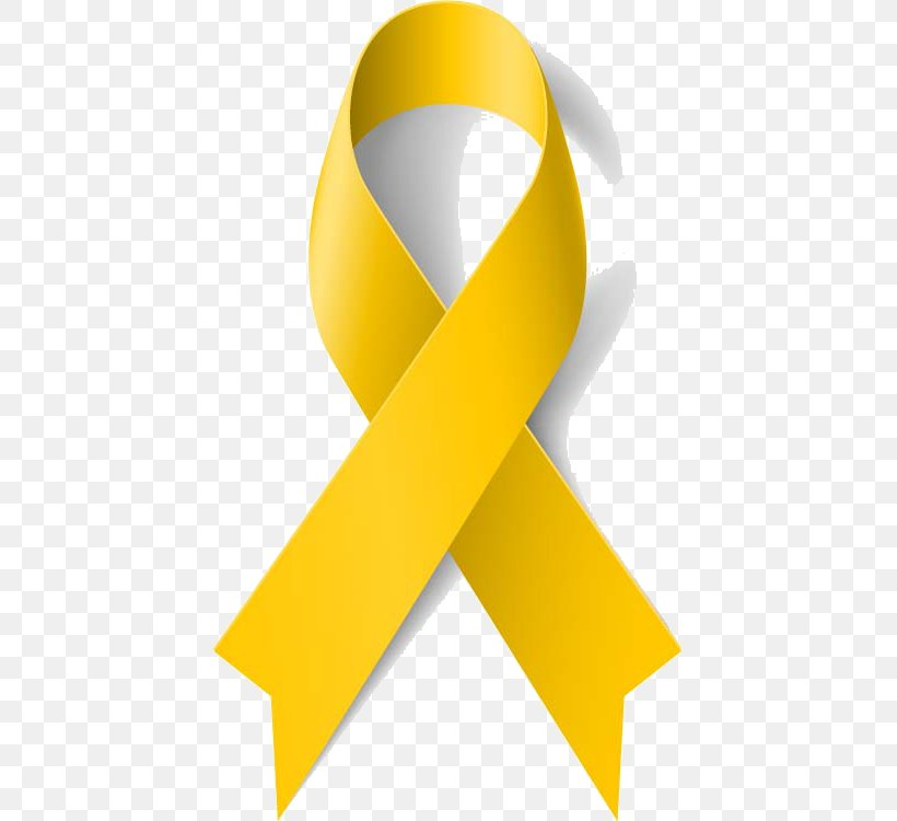 Yellow Ribbon Awareness Ribbon Cancer, PNG, 429x750px.
