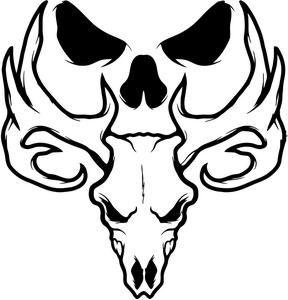 Bone Collector Deer Skull Logo.