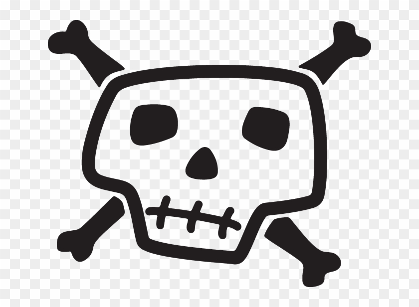 Skull And Bones Drawing, HD Png Download.