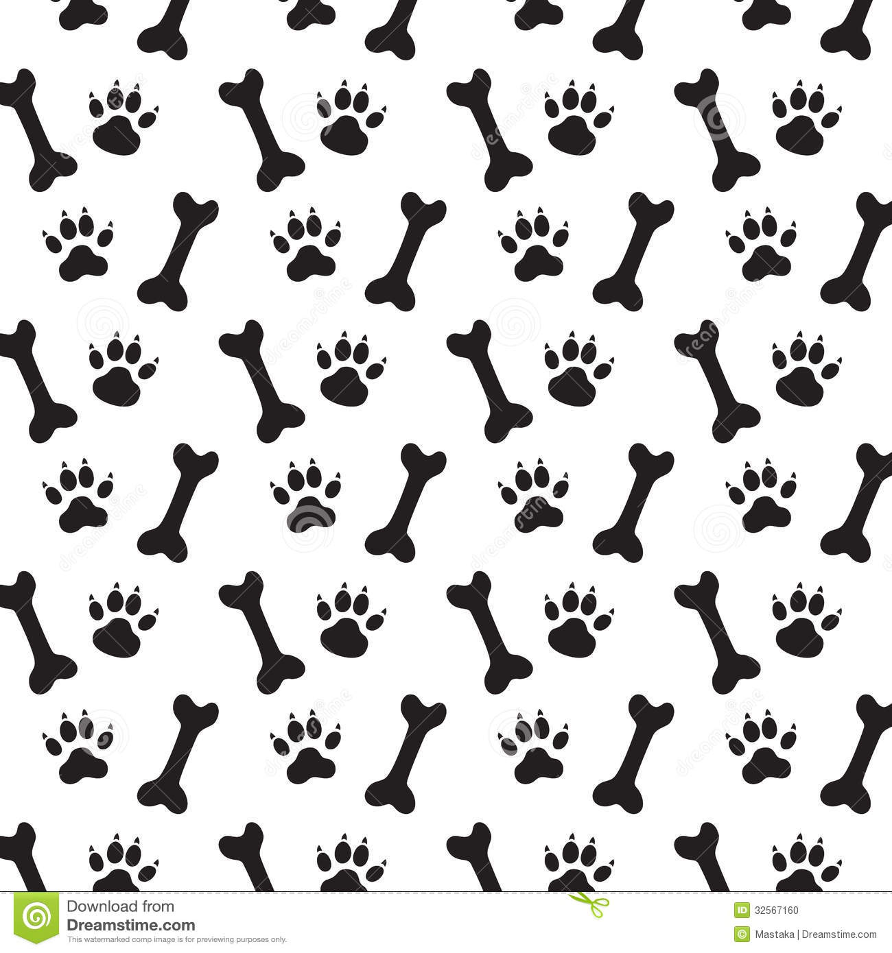 Dog pattern clipart.