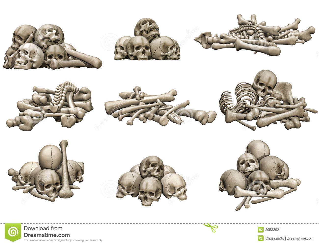 Pile Of Bones Clipart.