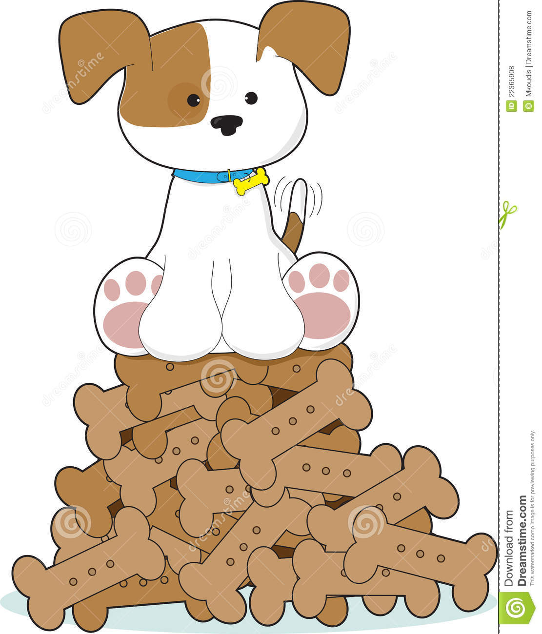 Pile of dog bones clipart.