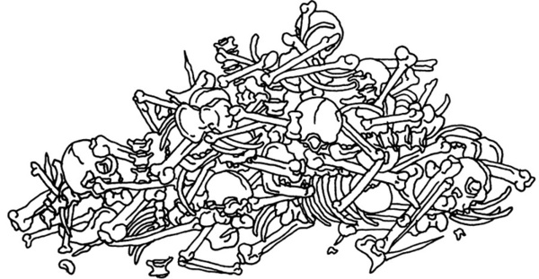 Pile of bones clipart.