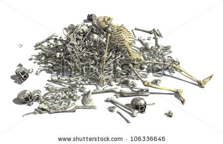 Pile Of Bones Stock Photos, Royalty.