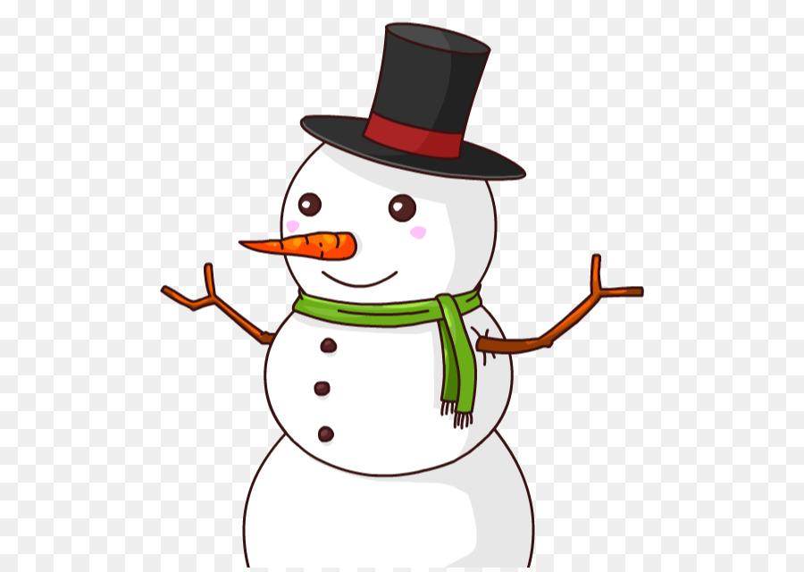 Snowman Cartoon clipart.