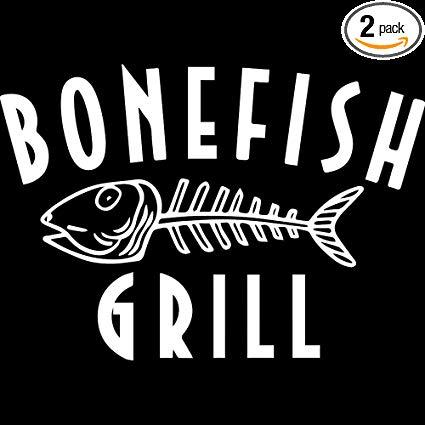 Amazon.com: NBFU DECALS Logo Bonefish Grill (White) (Set of.