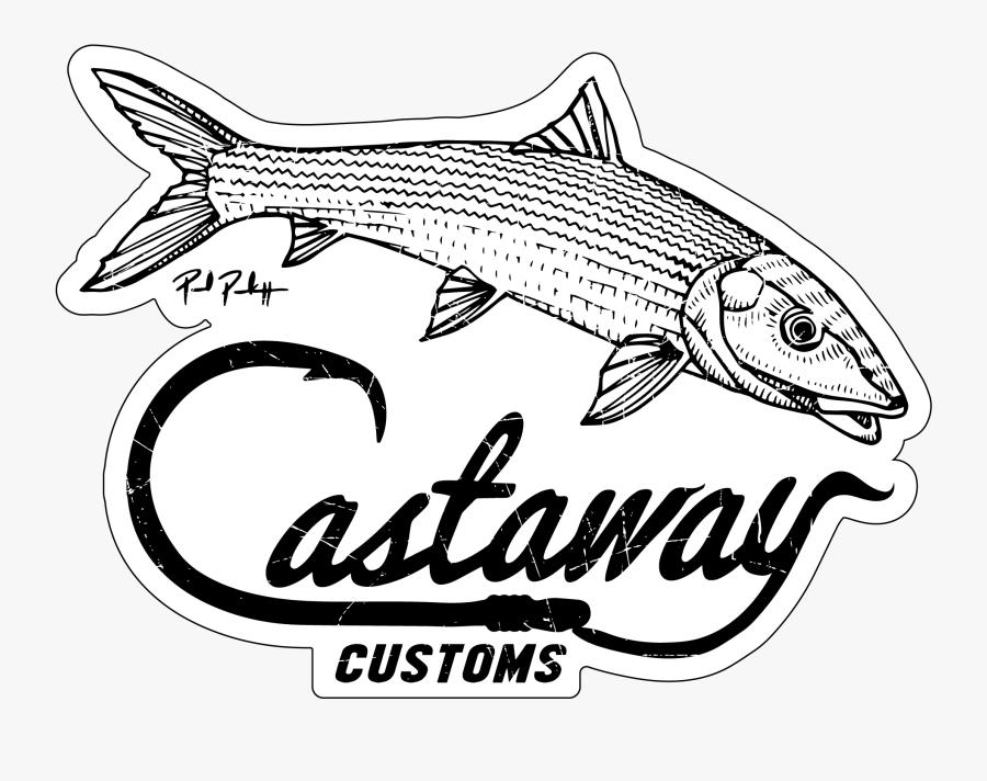 Bonefish Logo Decal Castaway Customs.