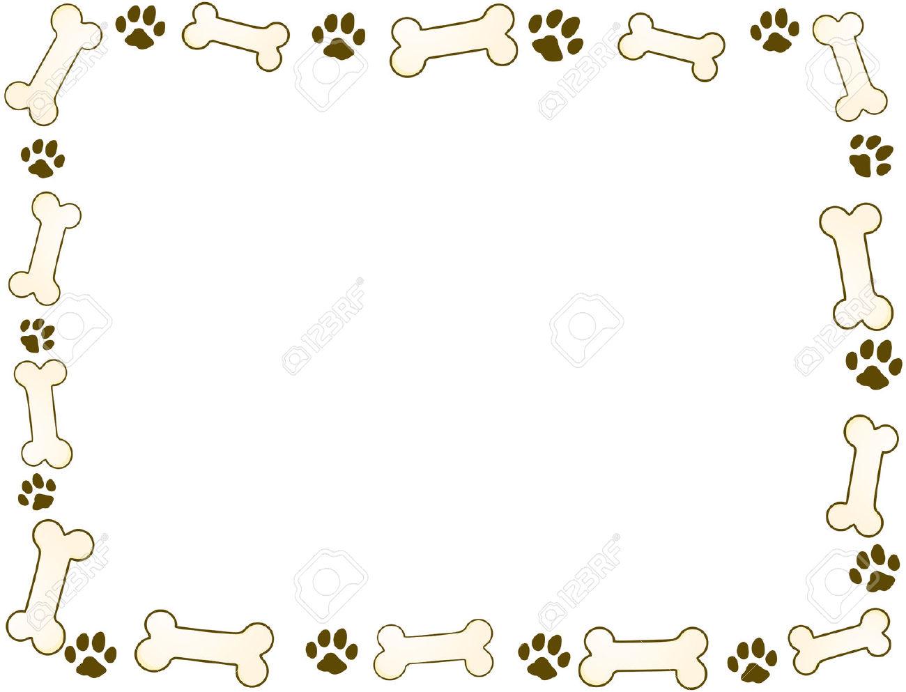 Dog Bone Clipart Border.