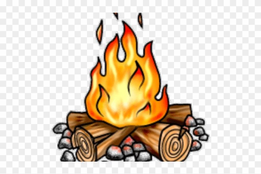 Bonfire Clipart Background.