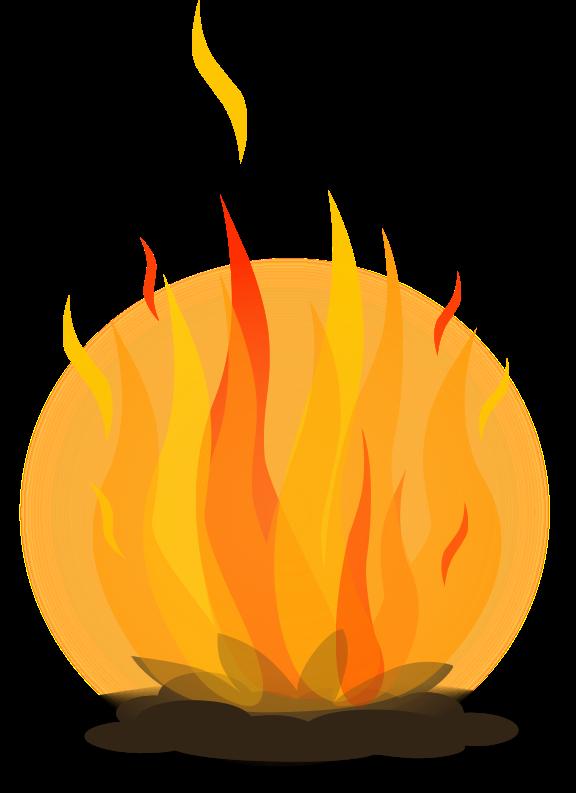 free bonfire graphic.