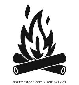 Black and white bonfire clipart 3 » Clipart Portal.