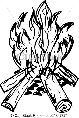 Bonfire clipart black and white 4 » Clipart Station.
