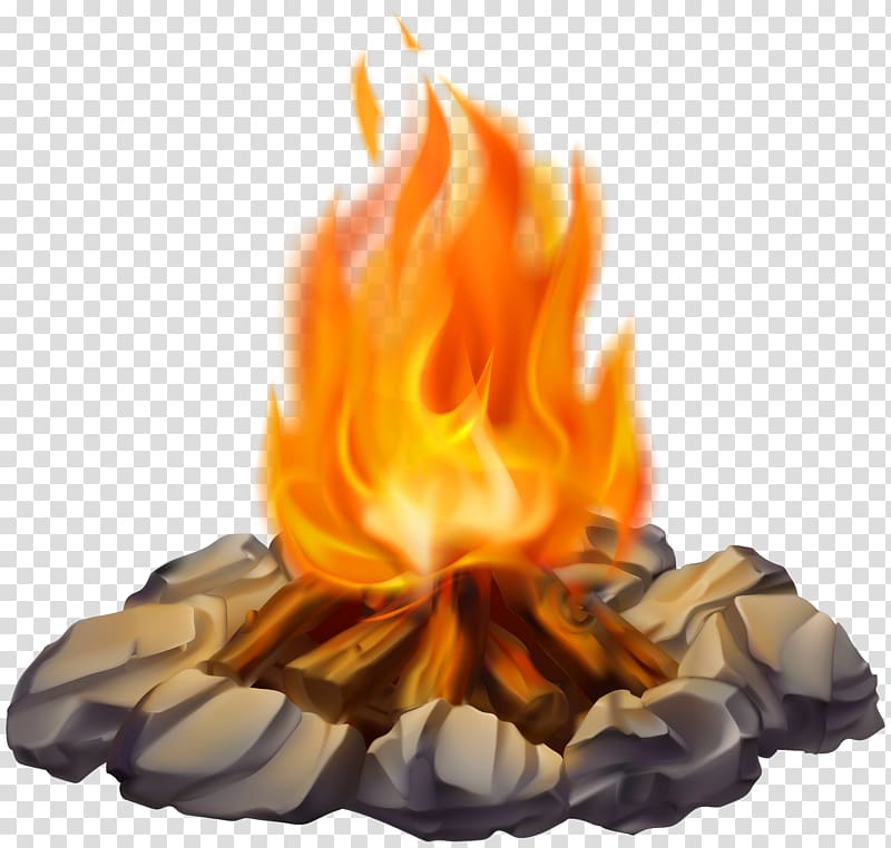 Illustration of fire, Campfire , Campfire transparent.