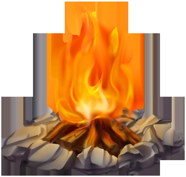Campfire PNG Clip Art Image.