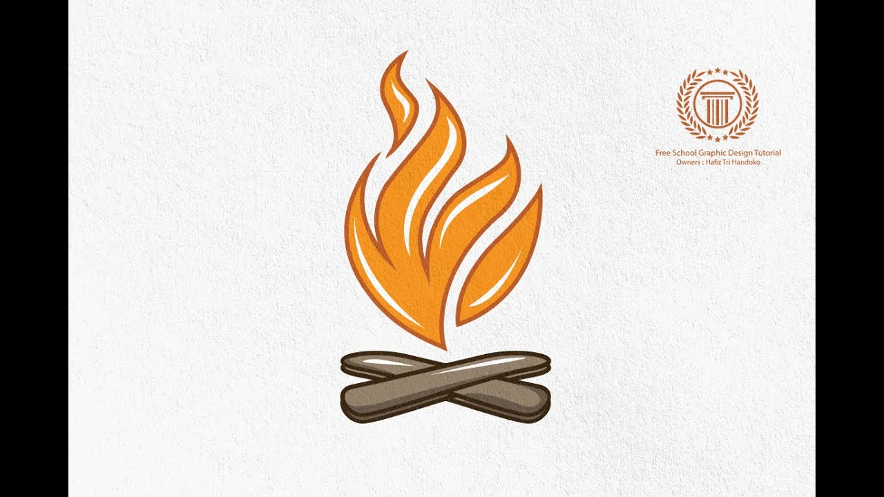 bonfire logo design tutorial.