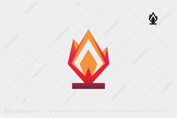 Exclusive Logo 89058, Bonfire Logo.