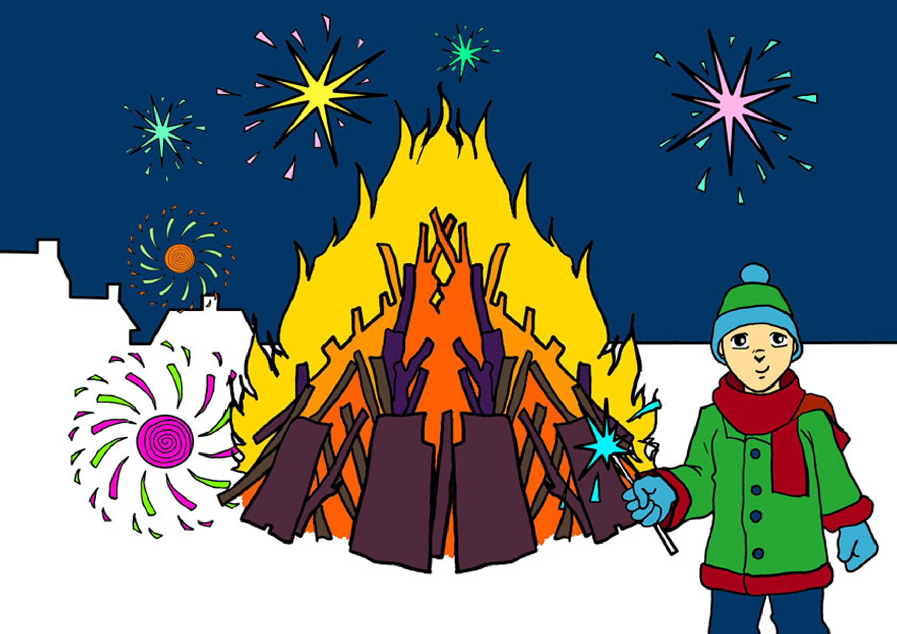Bonfire night clipart 10 » Clipart Station.