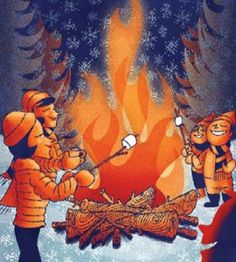 Bonfire Clipart bonfire party 3.