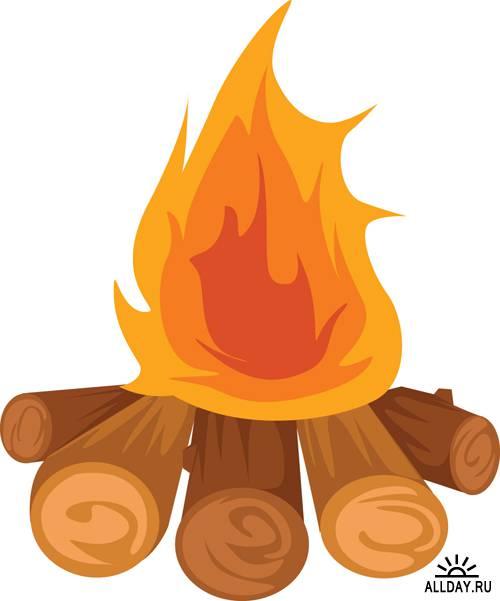 Clipart bonfire.
