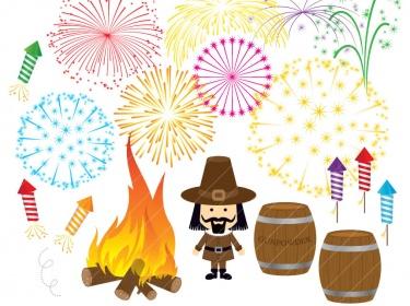 Clipart bonfire night free.