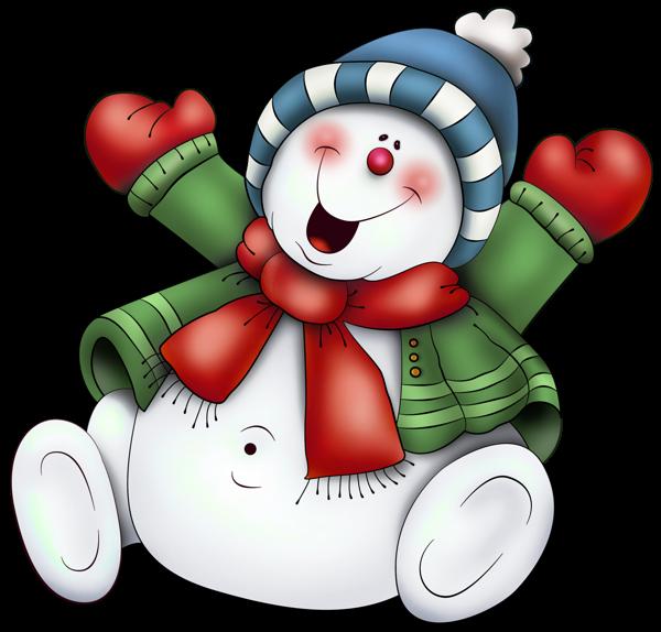 Hiver Noel Bonhommes De Neige Cute Snowmen Neige Clipart.
