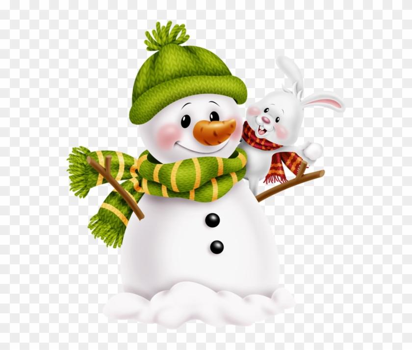 Snowman Clipart, Christmas Clipart, Mary Christmas.