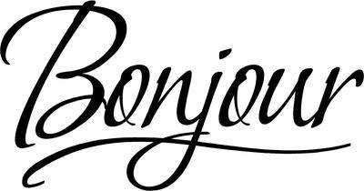 Image result for bonjour clipart.