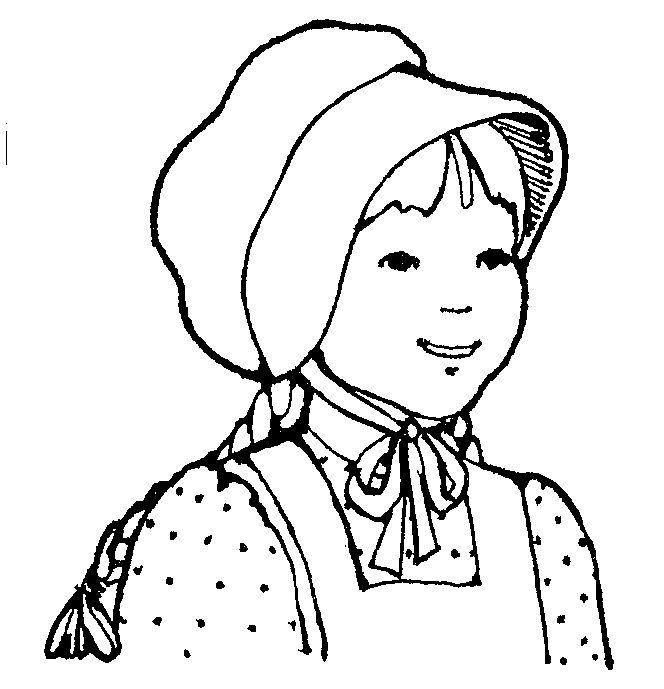 Pioneer Bonnet Clipart.