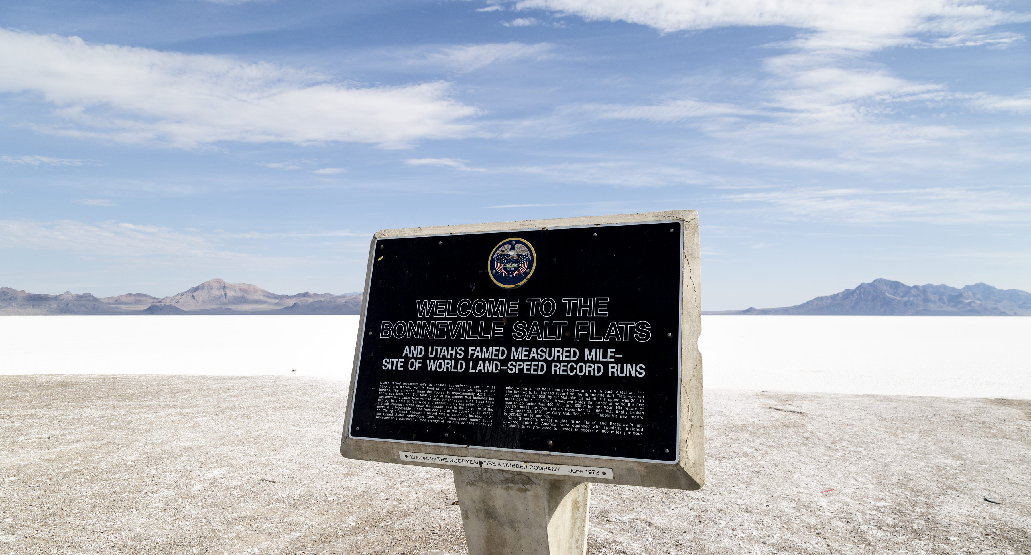 Beautiful Utah: Bonneville Salt Flats.