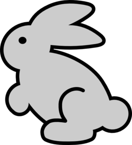 Bunny Clipart Black And White.