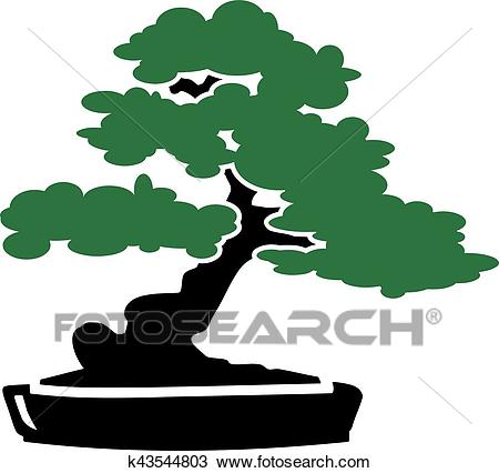Bonsai Tree icon Clipart.