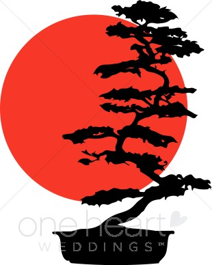Bonsai Tree Silhouette.