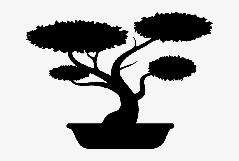 Bonsai Clipart Silhouette.