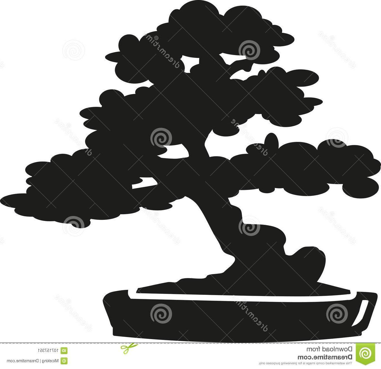 Top Bonsai Tree Silhouette Vector Cdr » Free Vector Art, Images.