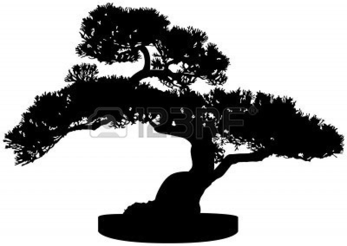 Bonsai Tree Silhouette Royalty Free Cliparts, Vectors, And.