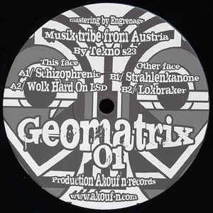 """Searching for """"Geomatrix"""" within on Discogs."""