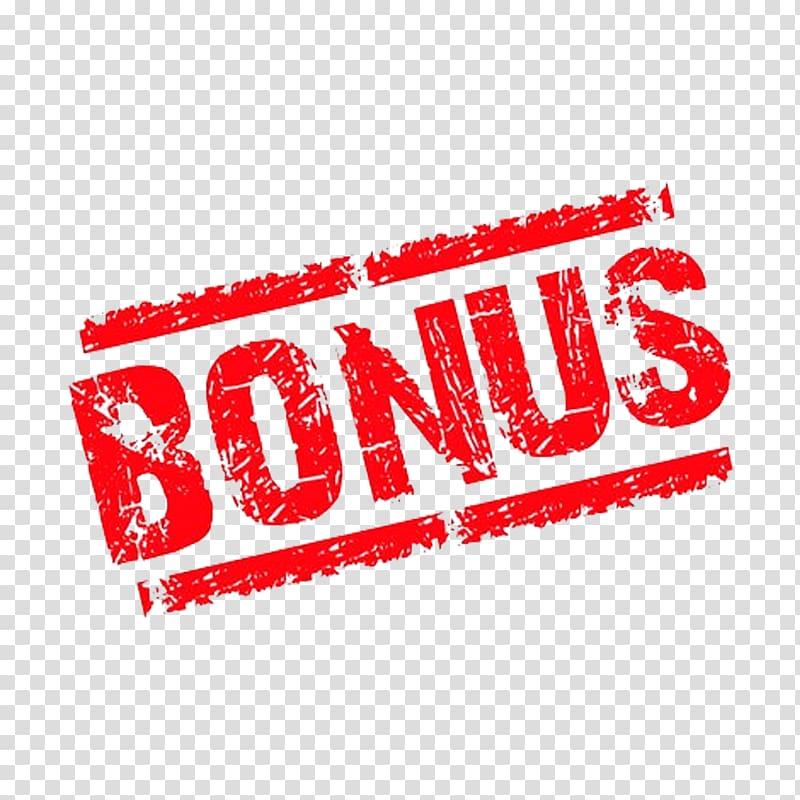 Red Bonus text illustration, Bonus payment Money Casino.