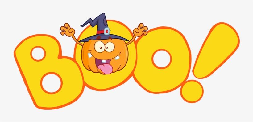 October Clipart Halloween Boo.
