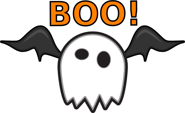 Ghost Saying Boo! Clip Art at Clker.com.