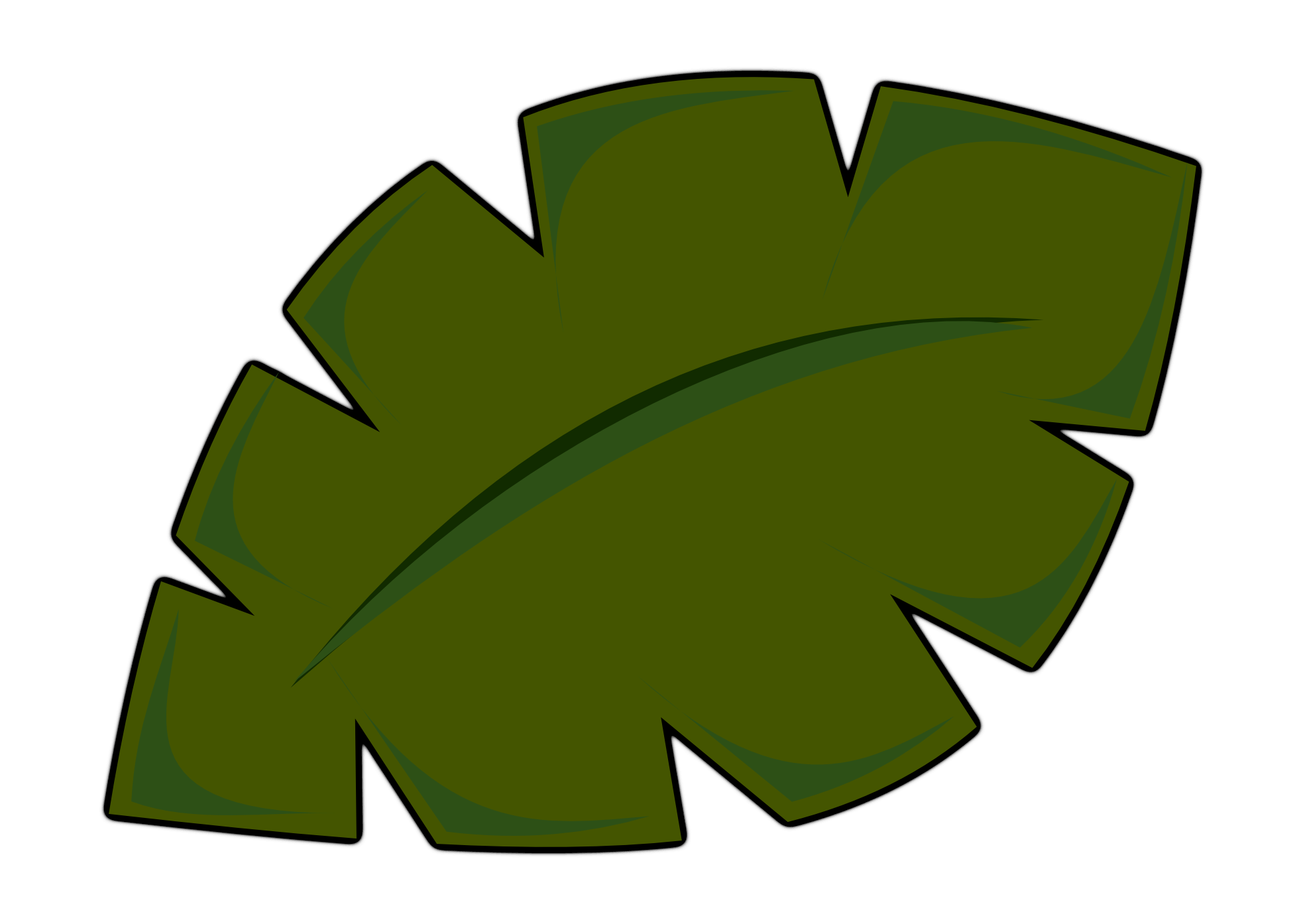 Jungle leaves clip art.