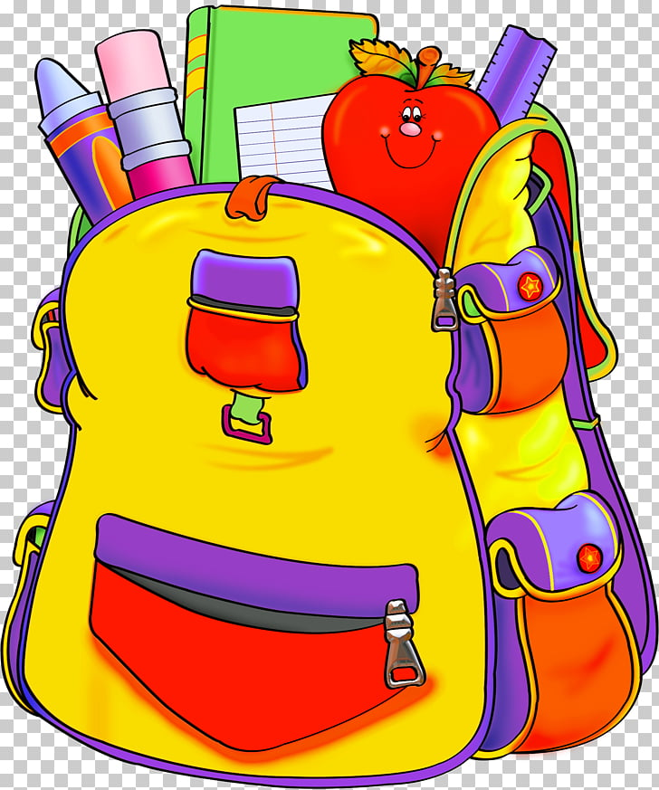 Education School supplies , backpack PNG clipart.
