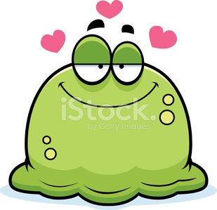 Little Booger in Love Clipart Image.