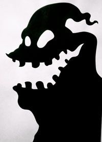 Nightmare Before Christmas Silhouette.