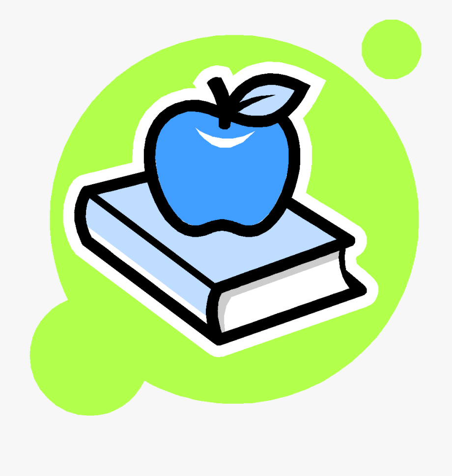 Book And Apple Clipart , Png Download.