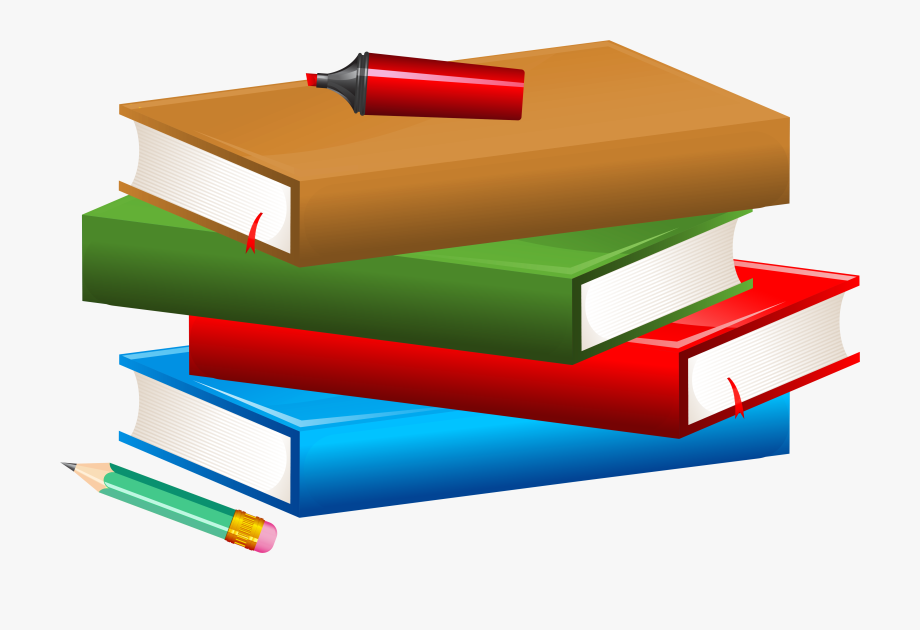 Graphic Transparent Library Pencil And Book Clipart.