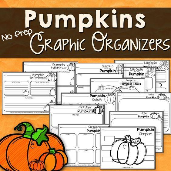 Pumpkin Reading Response Graphic Organizers for Any Pumpkin Non.