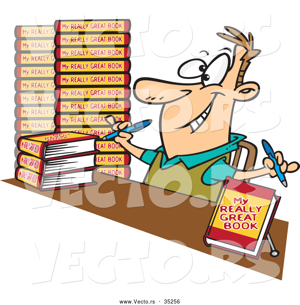 Book author clipart #15