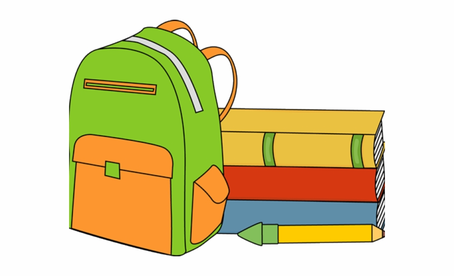 Backpack Clipart Full Book.